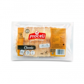 Pan de molde Proceli sin gluten sin lactosa 280 g.