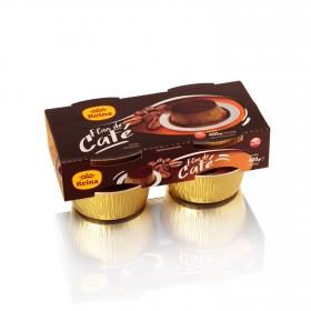 Flan de café Reina sin gluten pack de 4 unidades de 25 g.