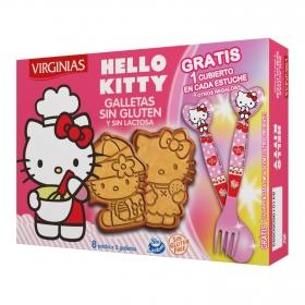 Galletas Hello Kitty Virginias sin gluten y sin lactosa 120 g.