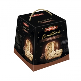 Panettone con pepitas de chocolate Delaviuda 500 g.