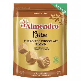 Bites de turron de chocolate blond El Almendro sin gluten 120 g.