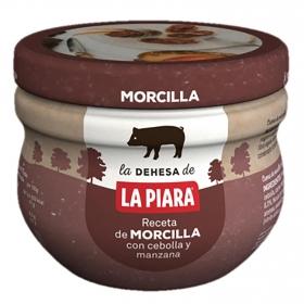 Crema de morcilla con cebolla y manzana La Piara 100 g.