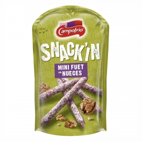 Mini fuet con nueces Snack'in Campofrío 50 g.