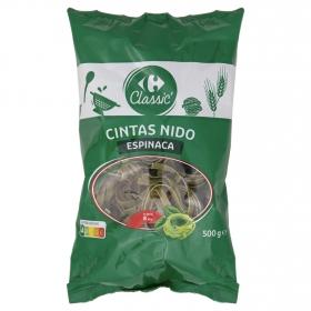 Nidos con espinacas Carrefour 500 g.