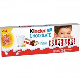 Barrita de chocolate con corazón de leche Kinder sin gluten 24 ud.