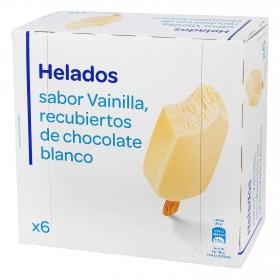 Bombón helado de chocolate blanco 6 ud.