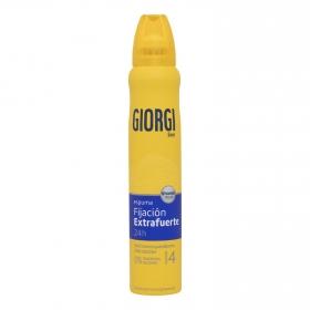 Espuma fijadora extrafuerte Giorgi 200 ml.