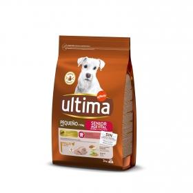 Pienso de pollo para perro Senior Mini Ultima 3 Kg.