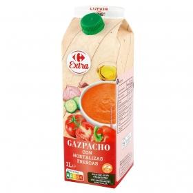 Gazpacho con hortalizas frescas Carrefour sin gluten 1 l.