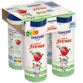 Yogur líquido de fresa Danone pack de 4 unidades de 155 g.