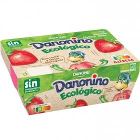 Petit de fresa ecológico Danone Danonino pack de 6 unidades de 50 g.
