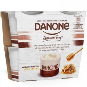 Yogur cremoso con miel y nueces Edición 1919 Danone pack de 4 unidades de 120 g.