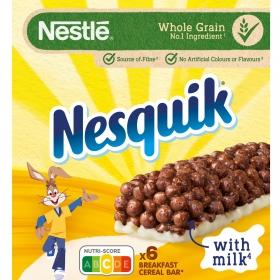 Barritas de cereales y leche Nesquik Nestlé 150 g.