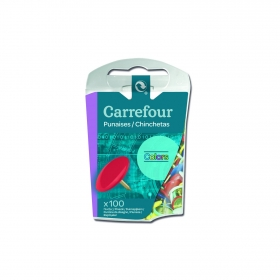 100 Chinchetas Colores Carrefour