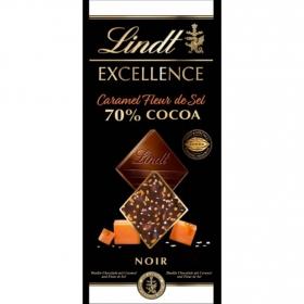 Chocolate 70% negro con caramelo y toque de sal Lindt Excellence 100 g.