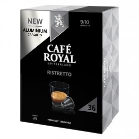 Café ristretto en cápsulas de aluminio Royal compatible con Nespresso 36 ud.
