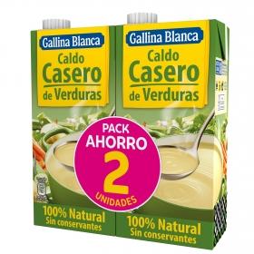 Caldo casero de verduras Gallina Blanca pack de 2 briks de 1 l.
