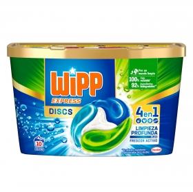 Detergente en cápsulas 4 en 1 Wipp Express 10 ud.