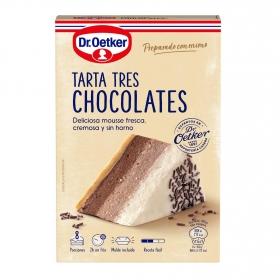 Preparado para tarta 3 chocolates Dr. Oetker 270 g.