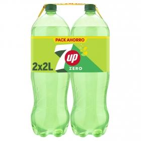 Refresco de lima-limón 7UP con gas pack de 2 botellas de 2 l.