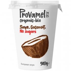 Preparado de soja sabor coco sin azúcar añadido ecológico Provamel 500 g.