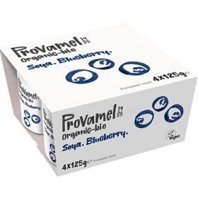 Preparado de soja sabor arándanos ecológico Provamel pack de 4 unidades de 125 g.