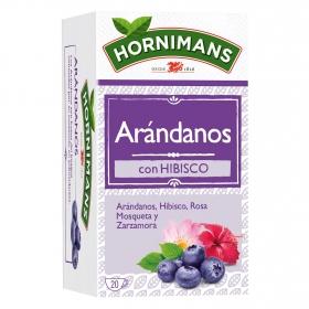 Infusión de arándanos con hibisco, rosa mosqueta y zarzamora Hornimans 20 ud.