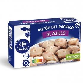 Tacos de potón al ajillo Carrefour 65 g.