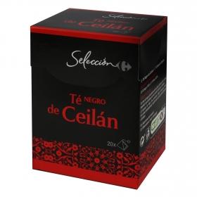 Té negro de Ceilán en bolsitas Carrefour Selección 20 ud.