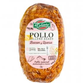 Redondo de pollo relleno bacon y queso asado La Carloteña 500 g.