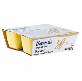 Postre de soja sabor vainilla ecológico Provamel pack de 4 unidades de 125 g.