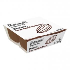 Postre de soja sabor chocolate ecológico Provamel pack de 4 unidades de 125 g.