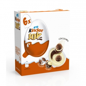 Huevo de chocolate con sorpresa Jurassic World Kinder 6 ud.