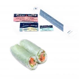 Cristal salmón Sushi Daily 6 ud