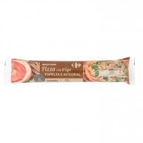 Masa para pizza con trigo espelta integral Carrefour 280 g.