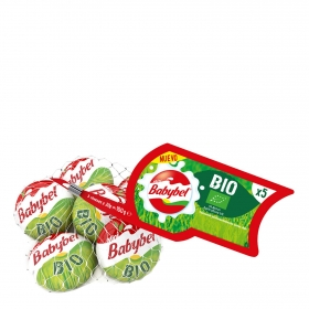 Queso mini ecológico Babybel 100g.