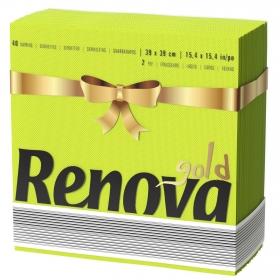 Servilleta 2 capas RENOVA GOLD 40 ud - Verde