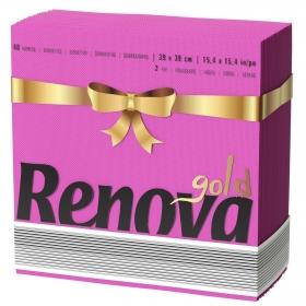 Servilleta 2 capas RENOVA GOLD 40 ud - Fucsia