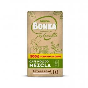 Café molido mezcla cultivo sostenible Nestlé Bonka 500 g.