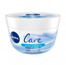 Crema hidratante Nivea Care 400 ml.