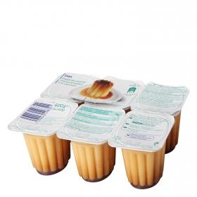 Flan de vainilla con caramelo pack de 6 unidades de 100 g.