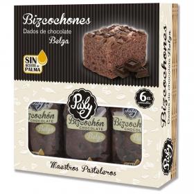 Bizcochones con dados de chocolate belga Pasly 350 g.
