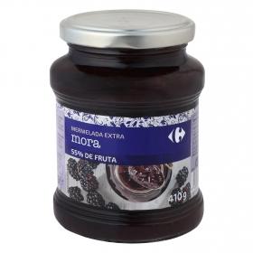Mermelada de mora ctegoría extra Carrefour 410 g.