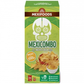 Kit Mexicombo Nachos + Salsa Queso Mexifoods 145 g.