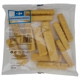 Varitas de merluza empanadas congeladas Carrefour 400 g