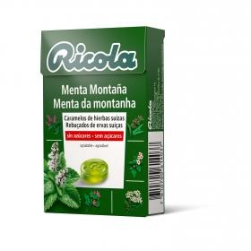 Caramelo sabor menta montaña sin azúcar Ricola 50 g.