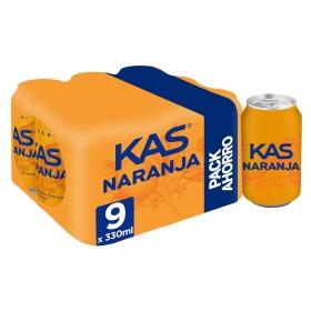 Kas de naranja pack de 9 latas de 33 cl.