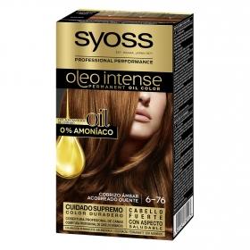 Tinte sin amoníaco oleo intense 7-76 cobrizo ambar SYOSS 1 ud.