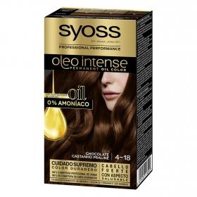 Tinte sin amoníaco oleo intense 4-18 chocolate SYOSS 1 ud.
