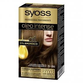 Tinte sin amoníaco oleo intense 5-86 castaño caramelo SYOSS 1 ud.